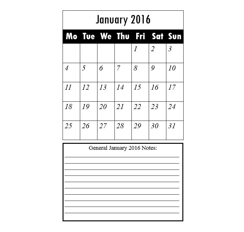 2016 calendar & daily planner 1