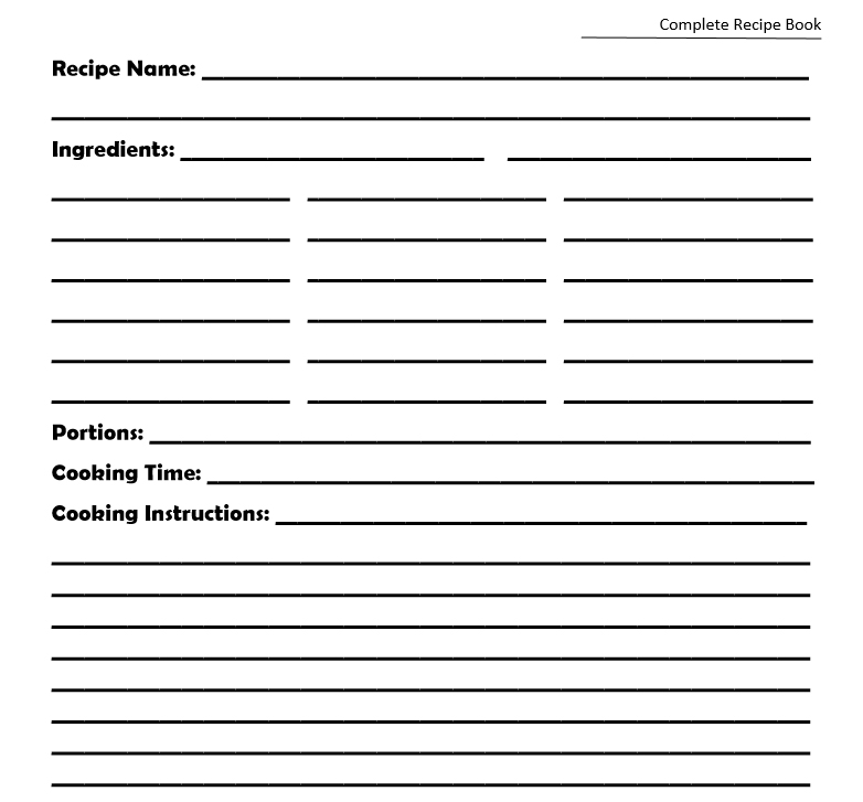 complete recipe book 2