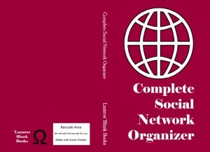 complete social network organizer blank book
