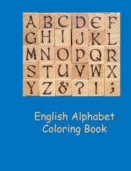 English alphabet coloring book