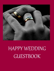 Happy wedding guestbook - Book cover