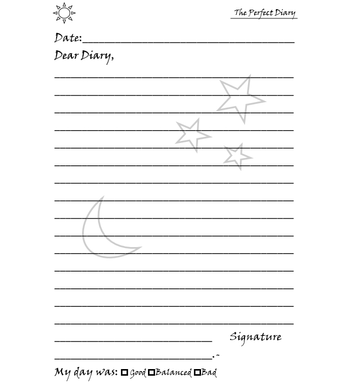 the perfect diary - interior template - web 3