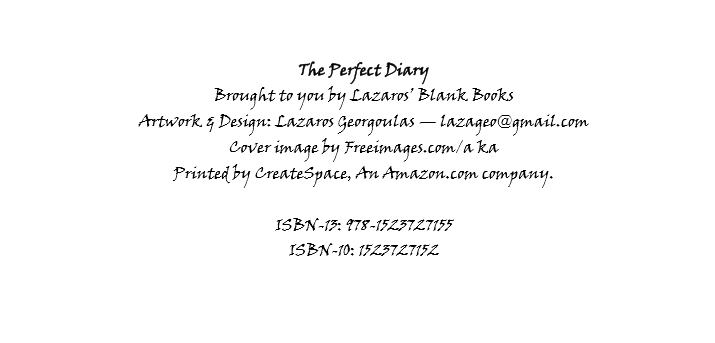 created by lazaros' blank books - printed by Createspace