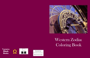 Western zodiac coloring book - Cover
