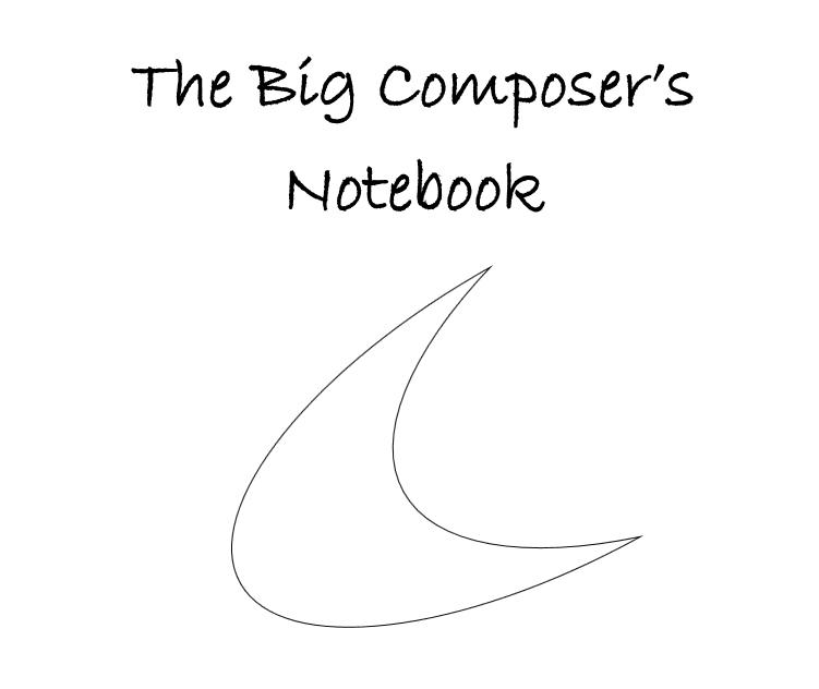 The big composer's notebook - interior 1
