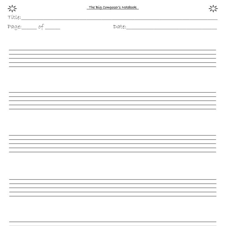 The big composer's notebook - interior 3
