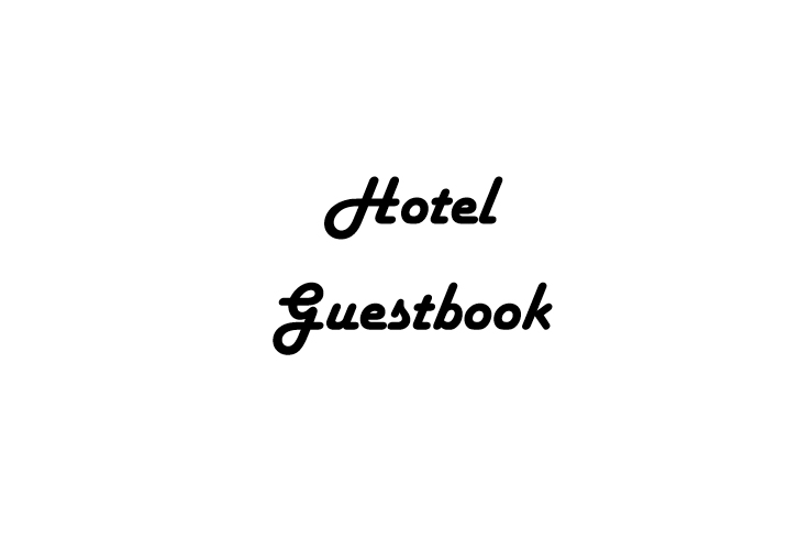 hotel guestbook interior - web 1