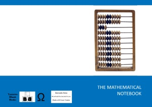 The Mathematical Notebook - Book cover