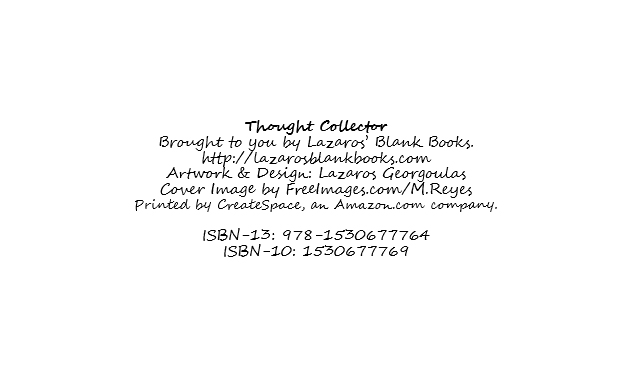 Thought collector by Lazaros' Blank Books