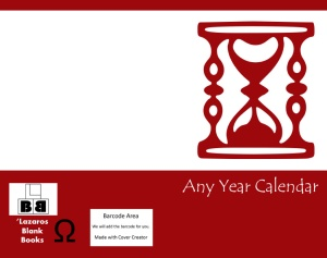 any year calendar - book cover full image