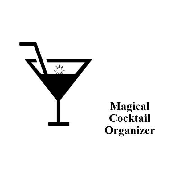 magical cocktail organizer - book interior