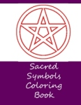 sacred symbols coloring book - front cover