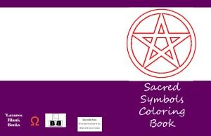 sacred symbols coloring book - back cover