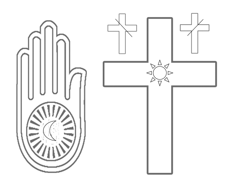 Sacred symbols coloring book - book interior - web 2