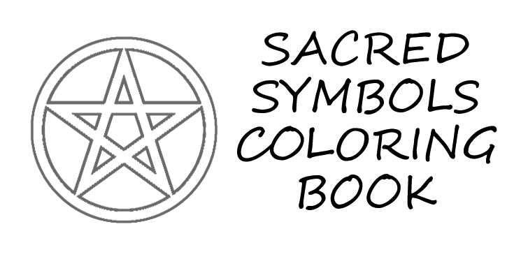 Sacred symbols coloring book - book interior - web 1