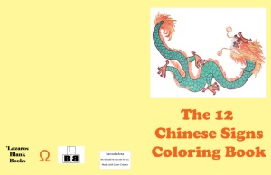 The 12 chinese signs coloring book cover
