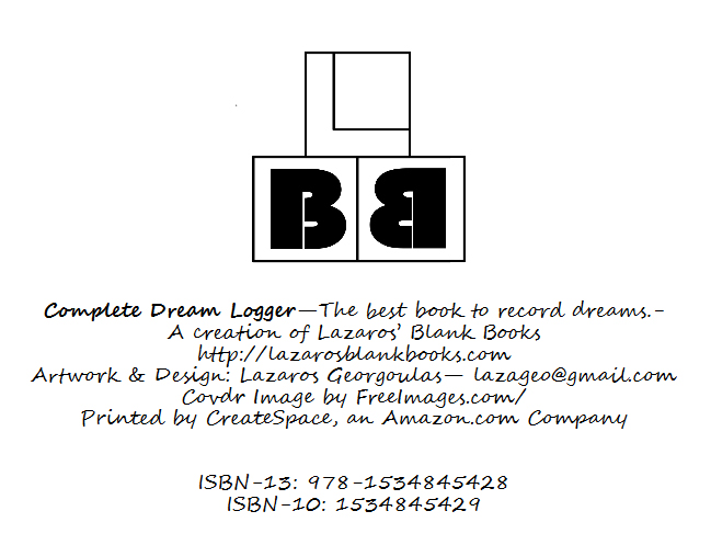 Complete dream logger - by Lazaros' blank books