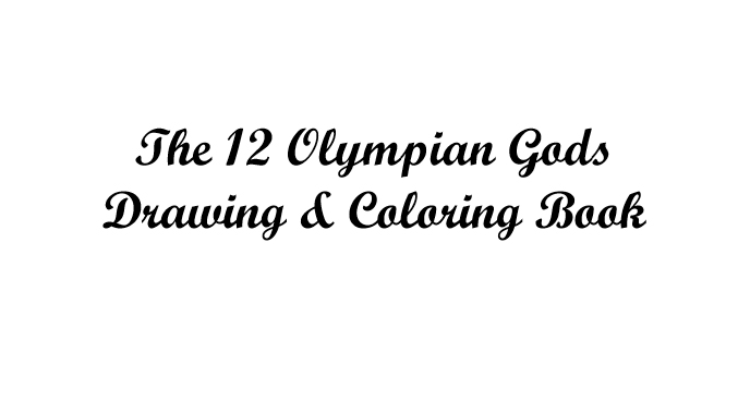 The 12 Olympian Gods Drawing & Coloring Book - Book interior - web 1