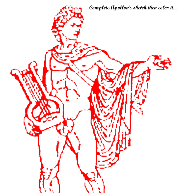The 12 Olympian Gods Drawing & Coloring Book - Book interior - web 4