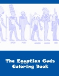 The Egyptian Gods Coloring Book - Front cover