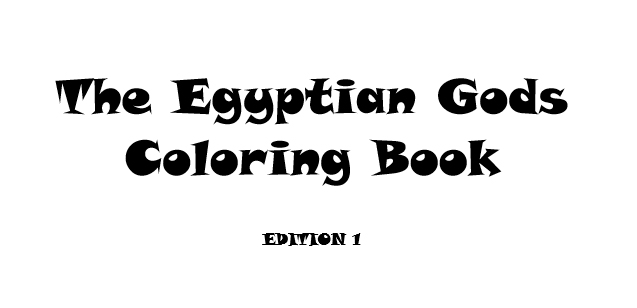 The Egyptian Gods Coloring Book - Book interior - web 1