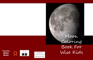 Moon coloring book - Full Book Cover