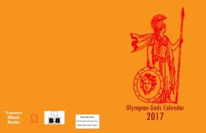 Olympian Gods Calendar 2017 - Full Cover