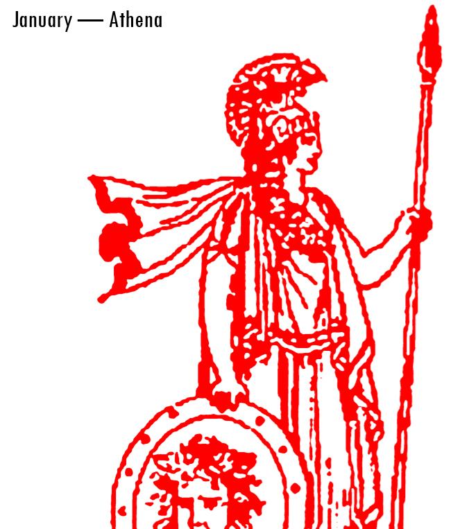 Olympian Gods Calendar 2017 - Book interior - Athena