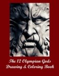 The 12 Olympian Gods Drawing & Coloring Book - Front cover