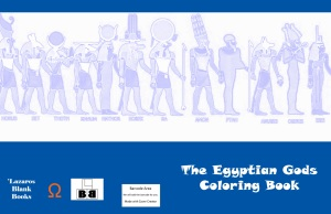 The Egyptian Gods Coloring Book - Full cover