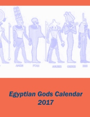 Egyptian Gods Calendar 2017 - Front Cover