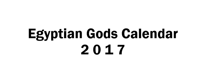 Egyptian Gods Calendar 2017 - Book interior