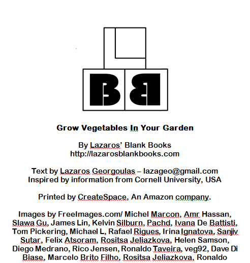 Grow Vegetables In Your Garden - By Lazaros' Blank Books