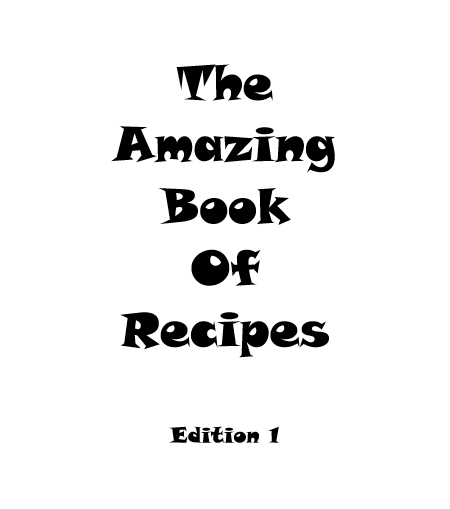 The amazing book of recipes - book interior 4
