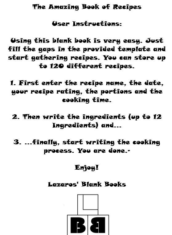 The amazing book of recipes - book interior 2