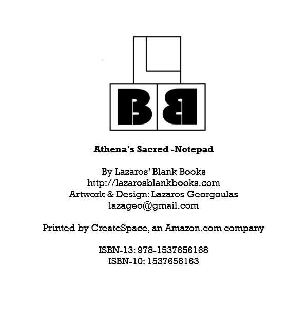 Athena's sacred notepad - By Lazaros' Blank Books