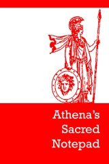 Athena's sacred notepad - Front cover