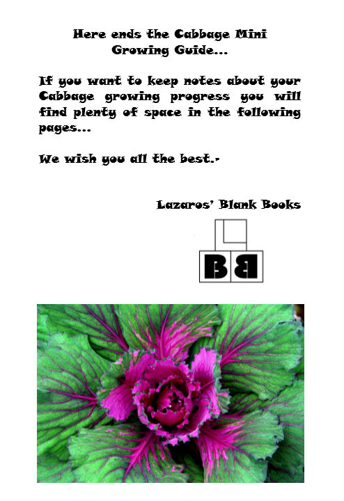 Cabbage Mini Growing Guide - Book interior