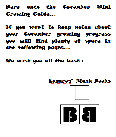 Cucumber mini growing guide - book interior 3