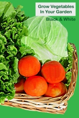 Grow vegetables in your garden black and white - Front cover