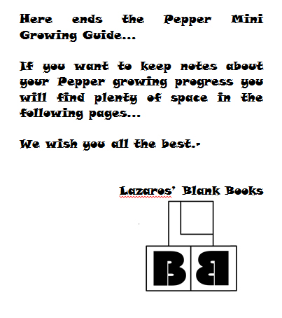 Pepper mini growing guide - Book interior 2