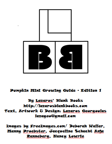 Pumpkin mini growing guide - By Lazaros' Blank Books