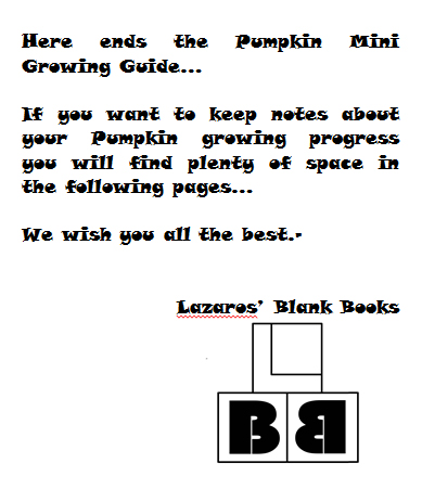 Pumpkin mini growing guide - Book interior 1