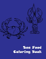 Sea food coloring book - Front cover