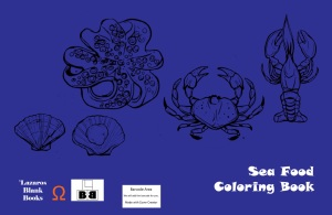 Sea food coloring book - full cover