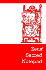 Zeus' sacred notepad - Front cover