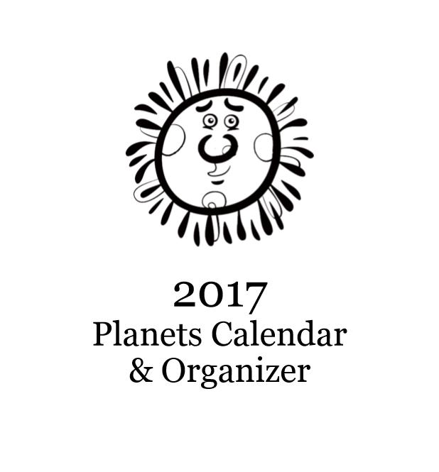 2017 Planets Calendar & Organizer - Book interior 1