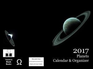 2017 Planets Calendar & Organizer - Full cover