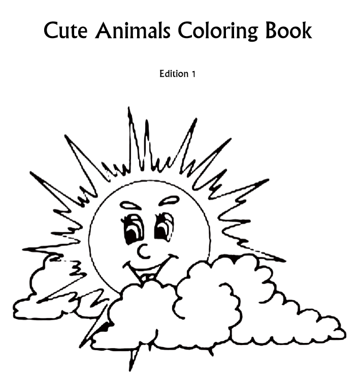 Cute animals coloring book - Edition 1 - Book interior 1