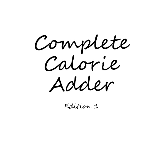 Complete Calorie Adder - Edition 1 - Book interior 1